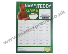 NAME THE TEDDY SCRATCH CARDS - 1 PACKET